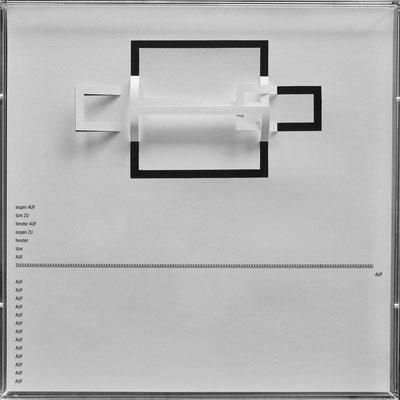 D110, Projekt mit gerhard rühm, 2021, 50 x 50 cm, rückseitige Signatur gerhard rühm + Jürgen Wolff