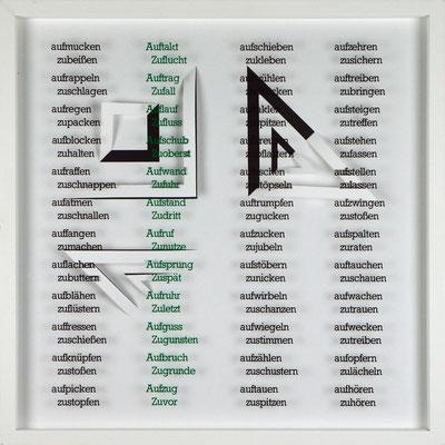 III / X, Projekt mit franz mon, 2021, 50 x 50 cm, rückseitige Signatur franz mon + Jürgen Wolff