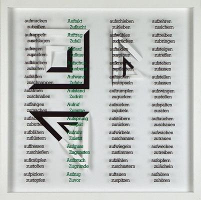 IX / X, Projekt mit franz mon, 2021, 50 x 50 cm, rückseitige Signatur franz mon + Jürgen Wolff