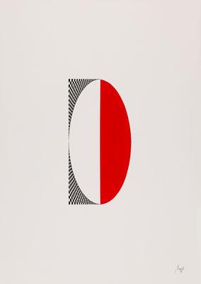 WYSIWYT II, 2015, Tusche/Acryl, 72,8 x 50,8 cm