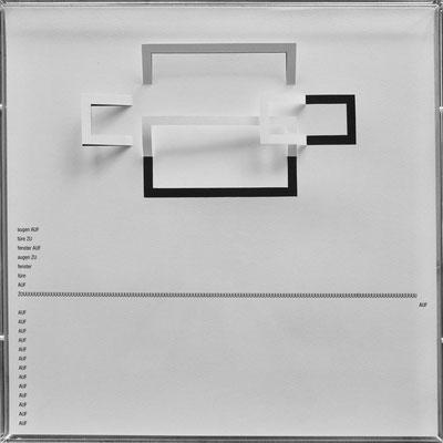 D107, Projekt mit gerhard rühm, 2021, 50 x 50 cm, rückseitige Signatur gerhard rühm + Jürgen Wolff