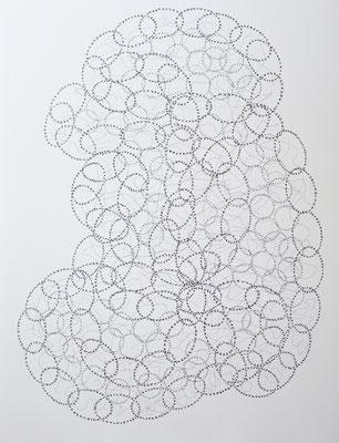 """""""Kommunikation"""", 2016, Tusche, 64 x 50 cm"""