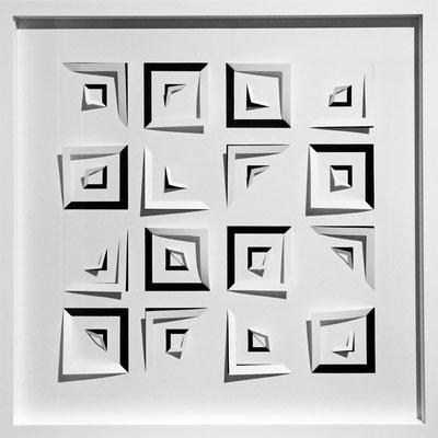 Variante für Holzkassette, signiert , 2020, 50 x 50 x  5 cm