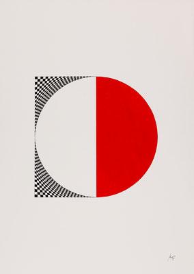 WYSIWYT I, 2015, Tusche/Acryl, 72,8 x 50,8 cm