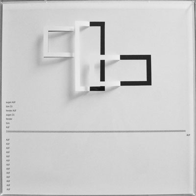 D104, Projekt mit gerhard rühm, 2021, 50 x 50 cm, rückseitige Signatur gerhard rühm + Jürgen Wolff