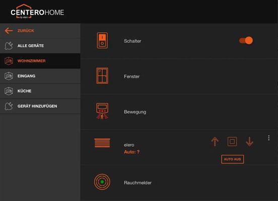 Die Alternative zu Somfy TaHoma Box, Somfy Connexoon: Das elero Centero Home Smart Home mit Somfy RTS Kompatibiltät, HomeMatic, Phillips HUE, Osram Lightify, Tado uvm. jetzt zum günstigen Preis im Online Shop kaufen. elero Centero Home App Alle Geräte