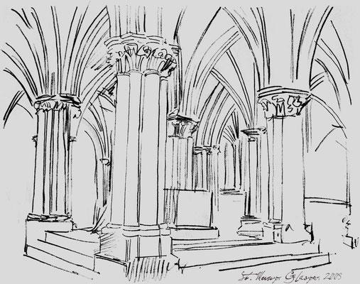 St. Mungo - Glasgow, Bleistift, Papier, A4