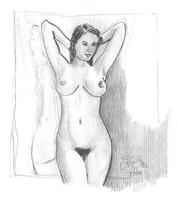 Hanna J., Bleistift, Papier, A4