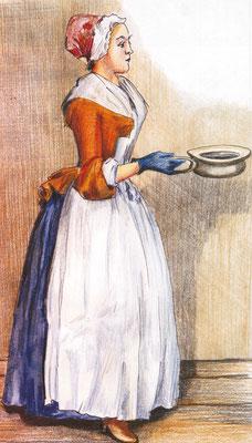 Jean-Étienne Liotard zeichnete in Görlitz ein Zimmermädchen, das zur Vorlage für sein berühmtes Bild wurde.
