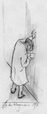 Klagemauer - Bleistift, Papier, 8x10, Bild: 80x120, o. Abb. verkauft