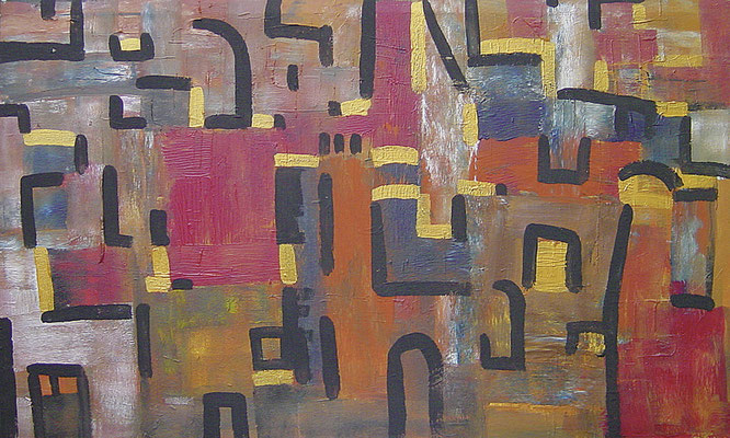 Alte Stadt (Jüd. Viertel Barcelona), 70x100, 2000