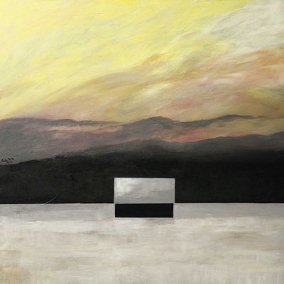 Winterlandschaft (Sternsucher), 100x100, 2013