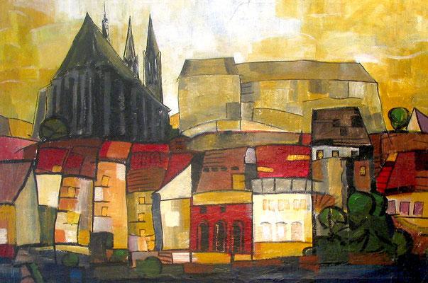 Neißeufer Görlitz, 100x70, 2016