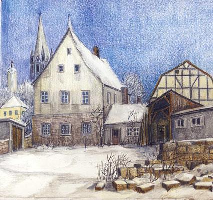 Naumburg - Curia praepositura ad dexteram (hofseitig), 1986/1990