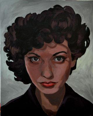 Asta Rode, Acryl auf Leinwand, 80 x 100cm,  Maya Deren,  2019