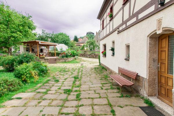 Ferienhof Wacker - Blick Richtung Zirkelstein (Sächsische Schweiz)