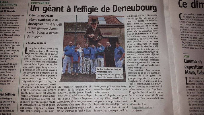 L'Avenir (Courrier de l'Escaut) - mars 2015