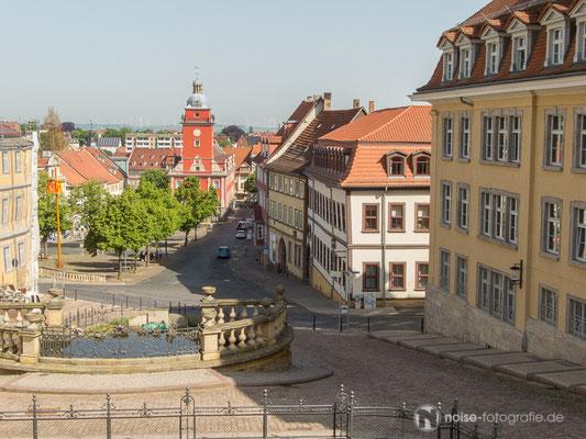 Gotha Hauptmarkt Wasserkunst Rathaus