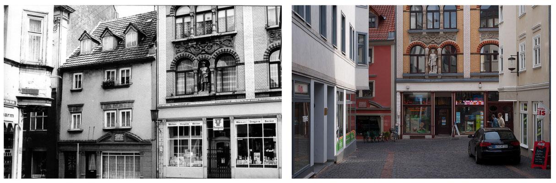 Gotha - Buttermarkt / Querstraße - 1978 / 2010 - DDR 80'er Jahre im Vergleich zu heute - Gotha Gestern und Heute