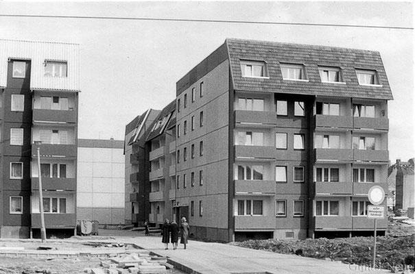 Gotha - Blick von der Bürgeraue zur Fritzelsgasse - 1985
