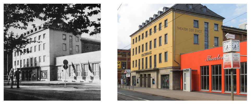 Gotha - Kreiskulturhaus - 80er Jahre / 2014 - DDR 80'er Jahre im Vergleich zu heute - Gotha Gestern und Heute