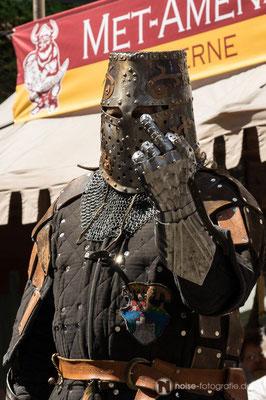Ritterspiele beim mittelalterlichen Treiben beim Gothardusfest 2016 auf dem Gothaer Buttermarkt