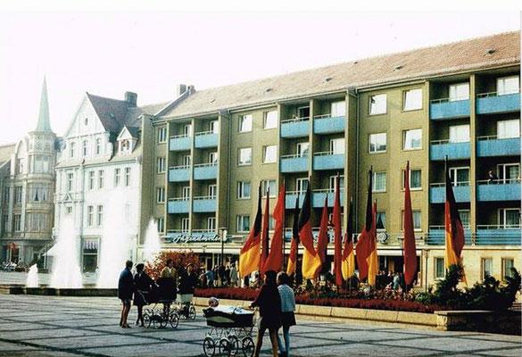 Gotha - Neumarkt 70er Jahre - Quelle: Thomas Günther / facebook
