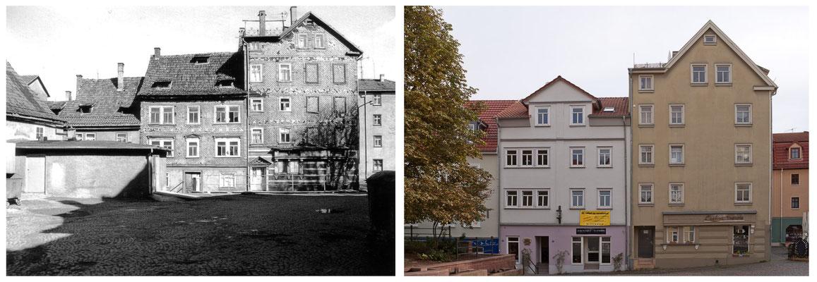 Gotha - Buttermarkt - 1989 / 2010 - DDR 80'er Jahre im Vergleich zu heute - Gotha Gestern und Heute