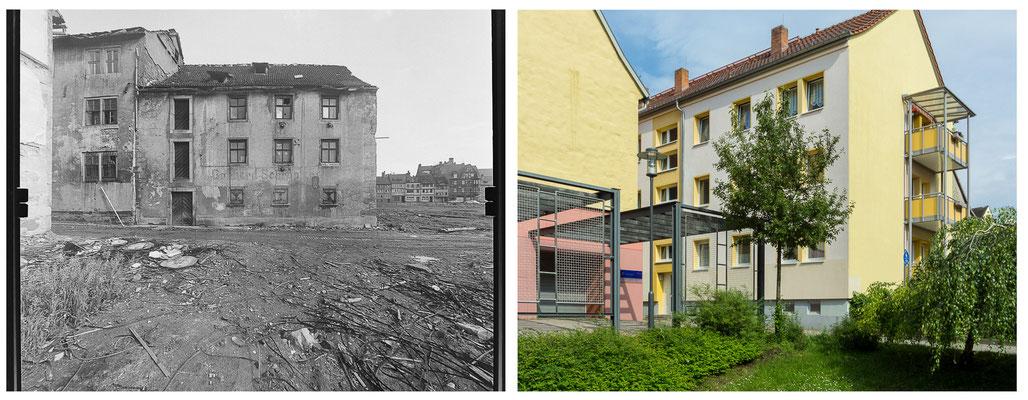 Grethengasse Gotha DDR 80'er Jahre / 2013 Quelle: http://www.deutschefotothek.de - DDR 80'er Jahre im Vergleich zu heute - Gotha Gestern und Heute