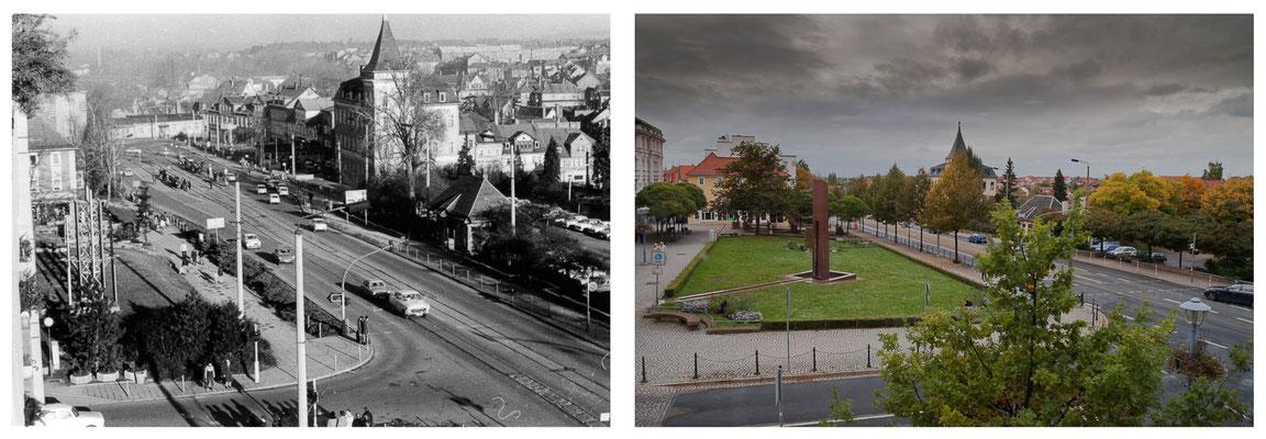 Gotha - Arnoldiplatz - 1984 / 2010 - DDR 80'er Jahre im Vergleich zu heute - Gotha Gestern und Heute