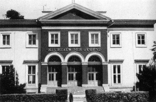 Klubhaus der Jugend / Prinzenpalais 1981- Quelle: Kulturelles Angebot - Kreis Gotha für die Jahre 1981-1985