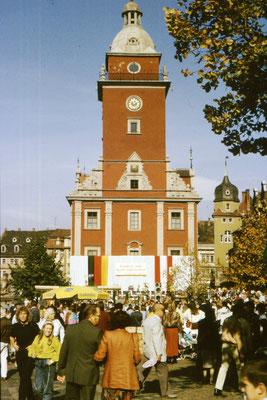 Gotha Hauptmarkt / Rathaus 1989 - CC BY-NC-ND 3.0 DE / Gerd Ließ