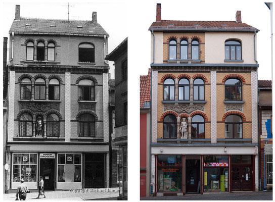 Gotha - Buttermarkt / Querstrasse - 1982 / 2010 - DDR 80'er Jahre im Vergleich zu heute - Gotha Gestern und Heute