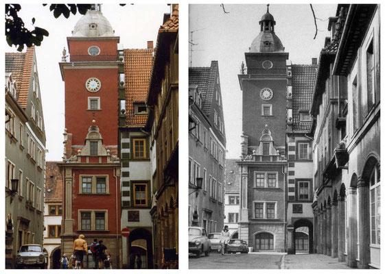 Hünersdorfstraße - 1989  / 2014 - DDR 80'er Jahre im Vergleich zu heute - Gotha Gestern und Heute
