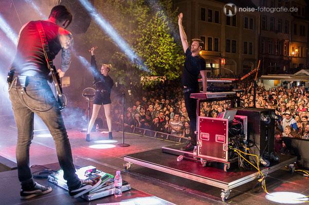 Glasperlenspiel live beim Gothardusfest 2016 auf dem Hauptmarkt in Gotha