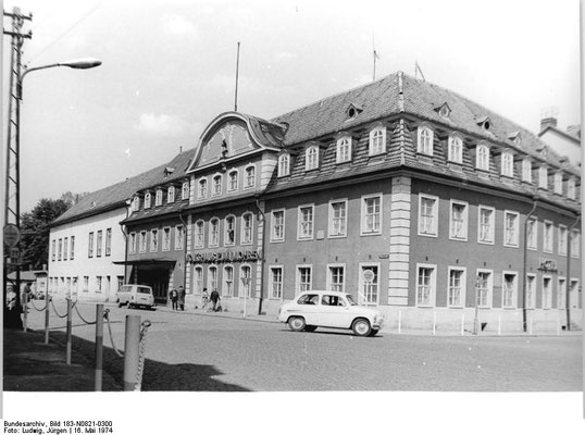 Gotha - Volkshaus zum Mohren 1974 - Quelle: Wikipedia