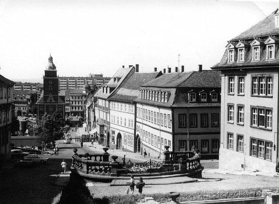 Gotha Hauptmarkt Wasserkunst Rathaus 80er Jahre - Michael Jäger