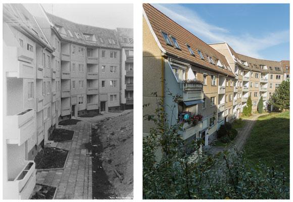 Die Heinoldsgasse in Gotha  1978 / 2010 - DDR 80'er Jahre im Vergleich zu heute - Gotha Gestern und Heute