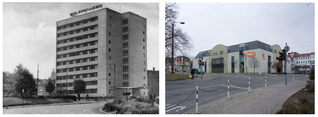 Gotha - Ekhofplatz / Leninplatz 1968 / 2012 - DDR 80'er Jahre im Vergleich zu heute - Gotha Gestern und Heute