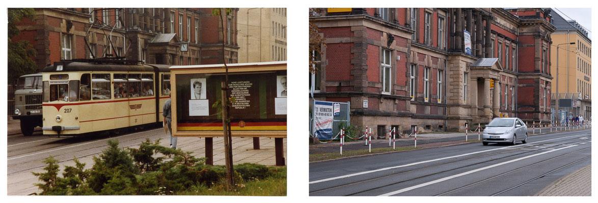Gotha - Ekhofplatz - 1989 - cc-Lizenz sludgegulper (flickr) / 2010 - DDR 80'er Jahre im Vergleich zu heute - Gotha Gestern und Heute