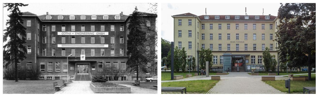 Gotha - Ratio Projekt / Neues Rathaus - 1991 / 2014 - DDR 80'er Jahre im Vergleich zu heute - Gotha Gestern und Heute