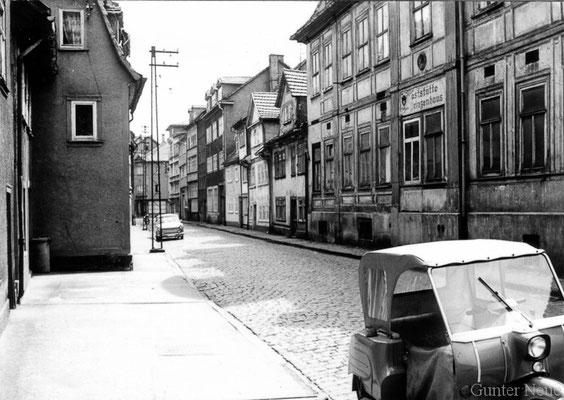Gotha - Hützelsgasse - 1978 - von der Bürgeraue zur Blumenbachstrasse