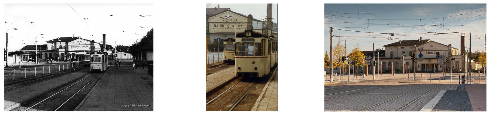 Gotha Bahnhof 1983 / 2014 - DDR 80'er Jahre im Vergleich zu heute - Gotha Gestern und Heute