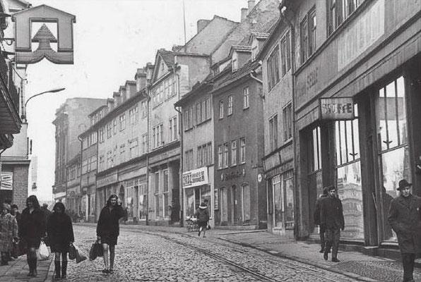 Gotha - Erfurter Str. - 70er Jahre - Quelle: Ella Schild / facebook
