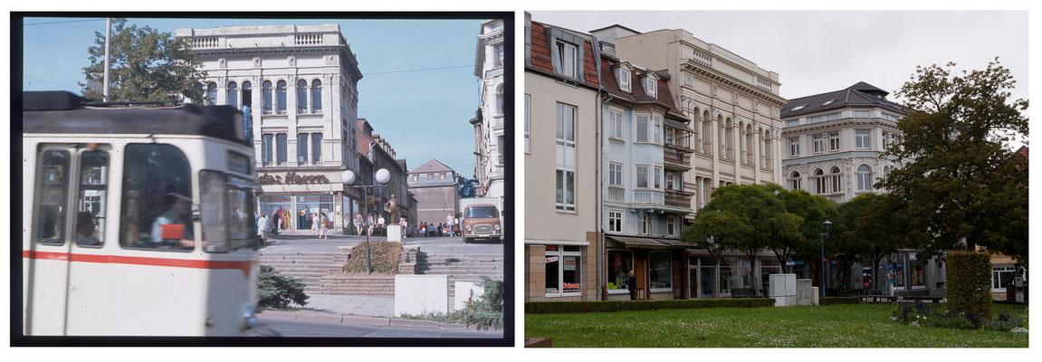 Gotha - Arnoldiplatz - 1991 / 2010 - DDR 80'er Jahre im Vergleich zu heute - Gotha Gestern und Heute