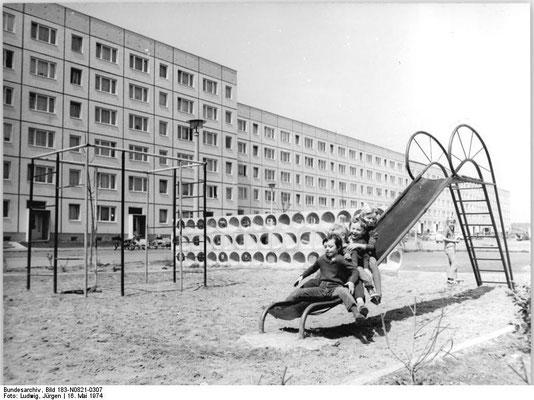 Gotha - Westviertel 1974 - Quelle: Wikipedia