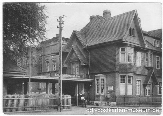 altes Krankenhaus 1960 - Quelle ddr.postkartenmuseum.de