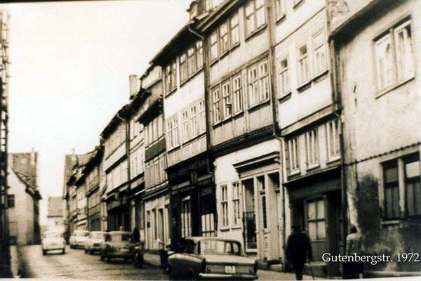 Gotha - Gutenbergstr. - 1972 - Quelle: Thomas Günther / facebook