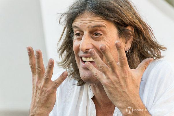 Kris Fleapit beim mittelalterlichen Treiben beim Gothardusfest 2016 auf dem Gothaer Buttermarkt