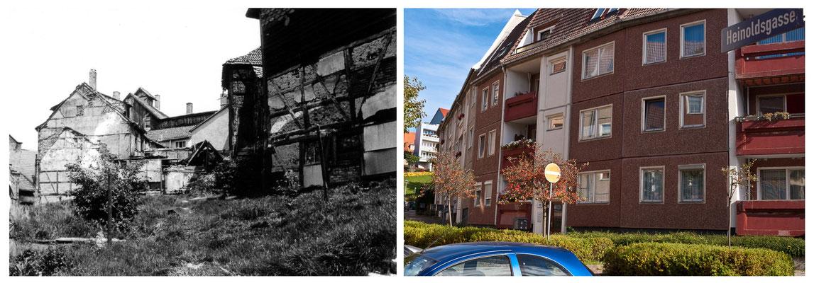 Am Berg in Gotha 1978 / 2010 - DDR 80'er Jahre im Vergleich zu heute - Gotha Gestern und Heute